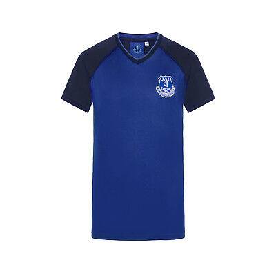 Everton FC Official Football Gift Boys Poly Training Kit T-Shirt