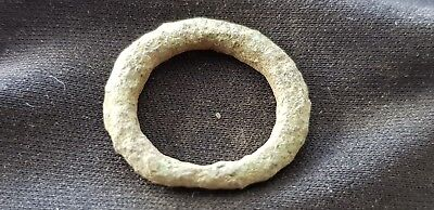 Rare Celtic tiny bronze finger ring found in Britain uncleaned condition. L140