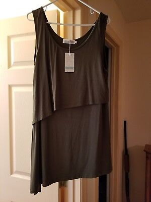 latched momma nursing top