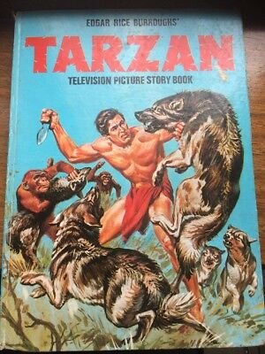 Annual Book:TARZAN:Edgar Rice Borroughs 1970s(Early)TV Picture Story Book