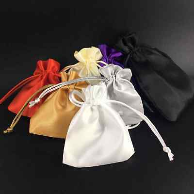 Satin Silk Jewellery Drawstring Gift Bag Favour Wedding Party Pouches 4 Sizes