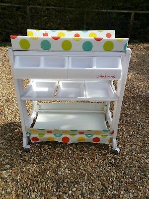 changing table with built in baby bath