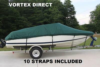 New Vortex Green 22 Ft / 22 Foot Heavy Duty Fish/ski/runabout Boat Cover