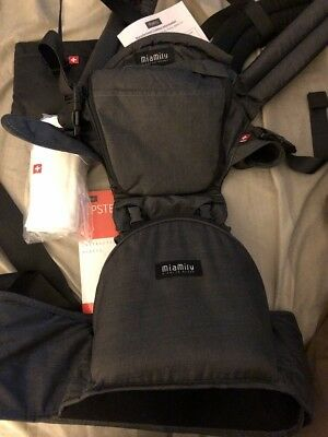 New MiaMily Hipster Plus Baby Front Carrier Free Shipping! Denim black