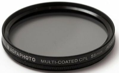 58mm Multi-Coated Circular Polarizing (CPL) Filter for Canon T7i, SL2, T6i, T6s