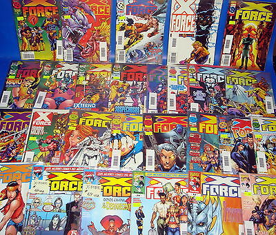 Batch of comics X-FORCE- 27 numbers bagged and protected-very good condition