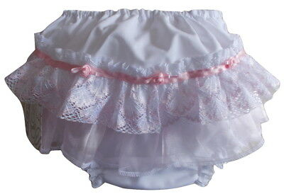 Quality Pex Baby Girls Frill Back Knickers, Nappy Cover Pants Frilly Pants