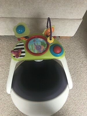 Mamas and Papas baby snug baby seat with detachable play tray in Purple
