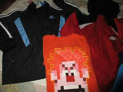 Lot of Boy's clothes. sz. sm. ( 6 ) Nike, Adidas, Volcom and others