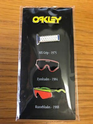 Super Rare Oakley pin packet Heritage Grip Eyeshade Display Limited Edition
