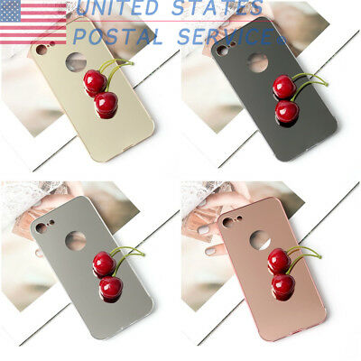 Mirror alloy frame+acrylic back cover Ultra Thin Metal Case For iPhone 8 USPS