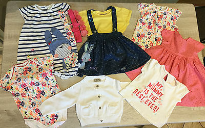 Baby Girls Summer Clothes Bundle - Next/Mothercare - 3-6 Months