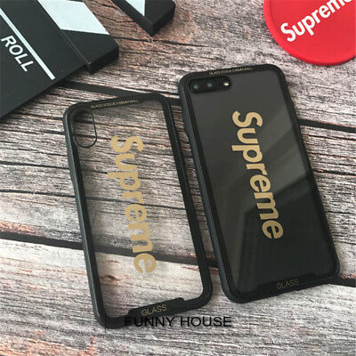 hot sale online 876a5 79493 NEW SUPREME CLEAR Glass Scratch-proof Hard Back Case Cover For iPhone X 7 8  Plus