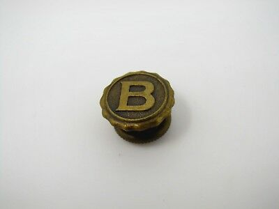 Antique Vintage Collectible Pin: Letter B High Quality Screwback