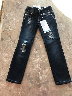 NWT Justice Girls Simply Low Super Skinny Jeans, Size 5