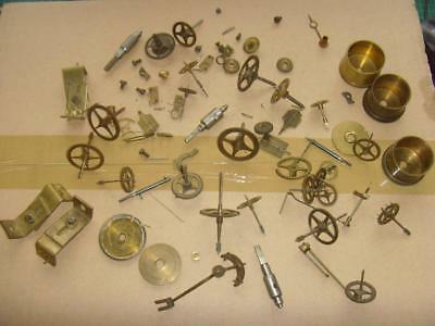 16562#1 Selection of french clock  movement wheels parts for spares
