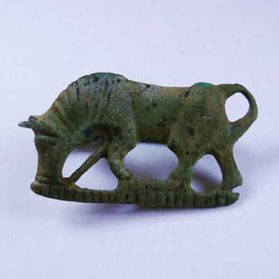 Roman Ancient Artifact Bronze Zoomorphic Fibula Brooch Horse