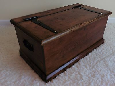 Medium Stained Pine Shoe Storage Blanket Box Chest or Coffee Table Free Delivery