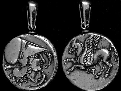 Percy Jackson Fans,Greek Gods #2S, ATHENA and PEGASUS, Pendant