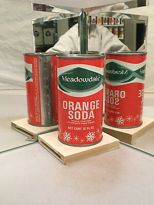 Meadowdale Flat Top Orange Soda Can - Great condition!