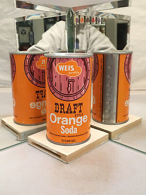 Weis Draft Style Orange Soda Can - Great condition!