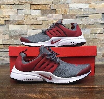 NIKE AIR PRESTO Essential New Mens Running Grey/Red 848187 008