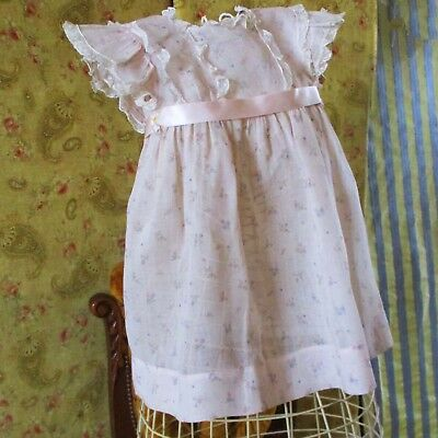 1930's Jane Withers Label Organdy Dress For Little Girl Or Large Doll