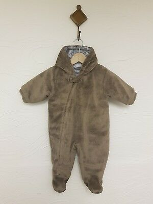 Boys 0-3 months NEXT bear soft warm snow suit