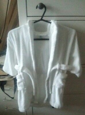 White John Lewis Baby Cotton Dressing Gown Size 18 to 24 Months