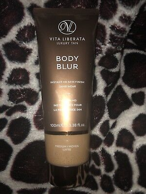 100ml Vita Liberata Body Blur Instant HD Skin Finish Medium Latte - Sealed