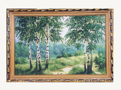 """""""Beautiful grove"""" Chinese embroidery Painting With framed *UK STOCK*"""