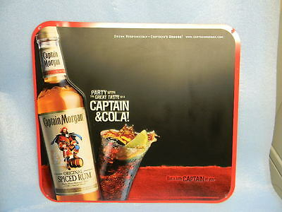 2005 Captain Morgan Spiced Rum Pirate Nautical Sailboat Keg Sword Tin Sign Bb
