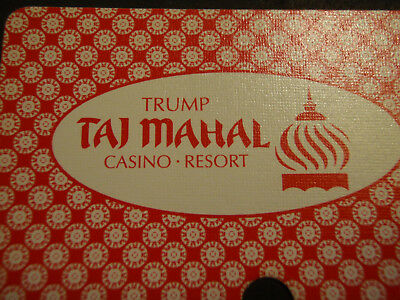 Trump Taj Mahal Casino Resort, Atlantic City Red Deck of Playing Cards Vintage?