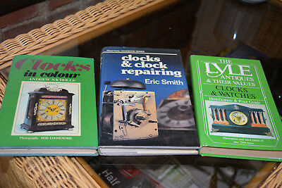 Antique Clock Books x3