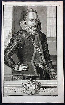 1726 Gerard Reynst  Governor dutch East indies Portrait engraving Valentijn Asia