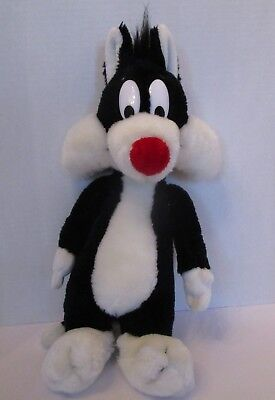 "Vtg Looney Tunes Sylvester Plush Puddy Cat Stuffed 17"" Warner Brothers 1989 1532"