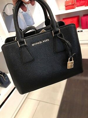 2d50a8413670 MICHAEL KORS CAMILLE Pebbled Leather Small Satchel Crossbody Bag in ...