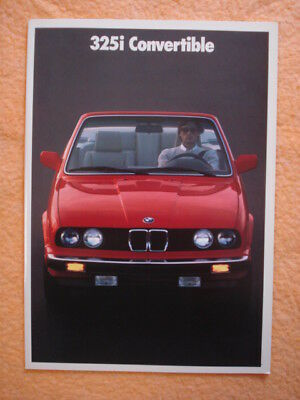1990 BMW 325i Convertible Brochure