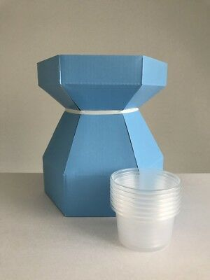 10x Blue Cupcake Bouquet Box each with 7 Cupcake Cups Holders