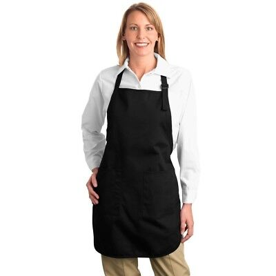 Port Authority Full-Length Apron with Pockets Work Wear Food Service A500