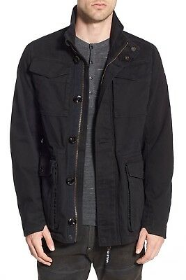 New $250 Black G-STAR RAW Falco Cotton Canvas Field Military Jacket Size Large L
