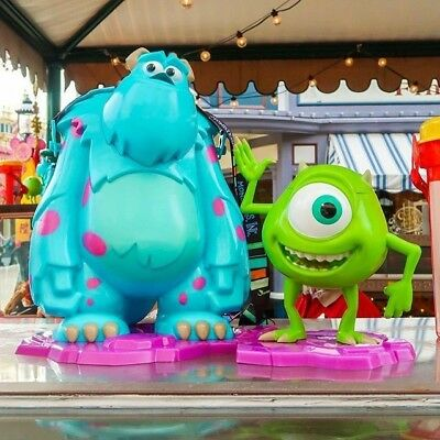 Monsters Inc Sully Sulley Popcorn Bucket & Mike Sipper Pixar Fest Disneyland