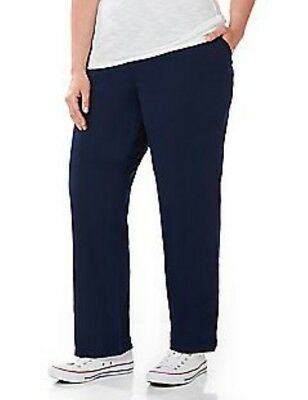 Nwt Catherines Womens Plus Size Suprema Knit Pants Black~5X Petite~Retail$26.50