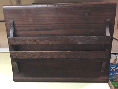 Magazine Rack Made From Antique Church Pew Hymnal