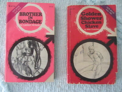 Vintage Lot Of 2 Gay Erotica Pulp Fiction Male Sleazy 1970's
