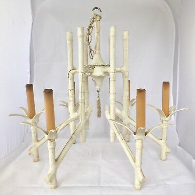Vintage faux bamboo chandelier hollywood regency chinoiserie tole vintage faux bamboo chandelier hollywood regency chinoiserie tole light fixture aloadofball Choice Image