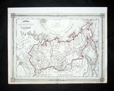 1846 - Russia Russland Asia Map Karte