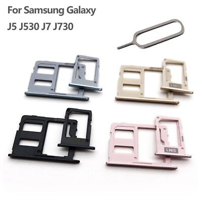 Dual Sim Card Tray Slot+Micro SD Card Holder For Samsung Galaxy J5 J530 J7 J730