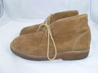 d2df2e2422d97 Orvis Used 10.5 Khaki Suede Leather Gumlite Sole Ankle desert Boots chukka  34474