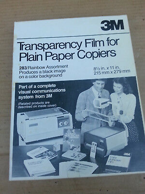 Transparency Film for Plain Paper Copiers 3M vintage #283 RAINBOW ASST. SEE PICS